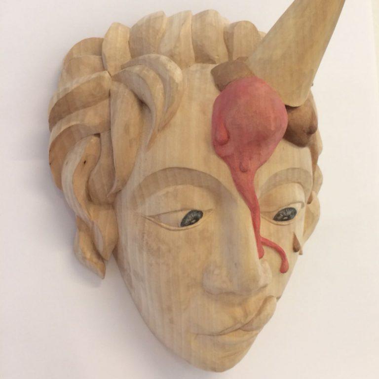 Holzbildhauerei werkstatt-eden-lis-werner-maske