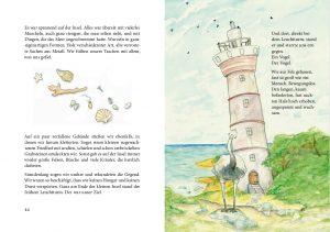 eine Buchseite der Geheimnisgeschichten Band 4 unverschämter Vogel