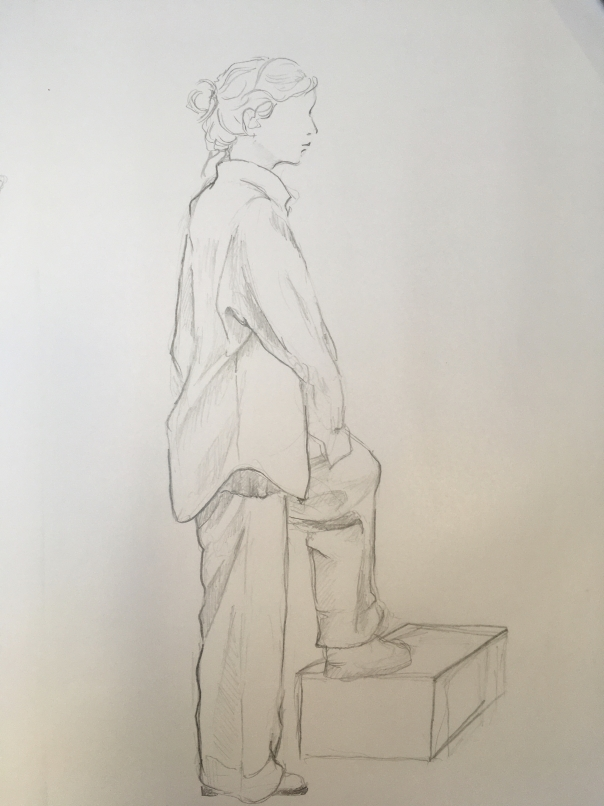 Bleistiftzeichnung Lena