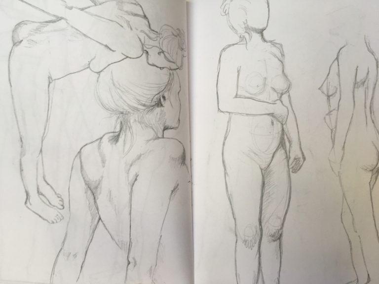 Skizzenbuch Aktzeichnungen