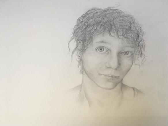 Bleistiftzeichnung eines Selbstportaits