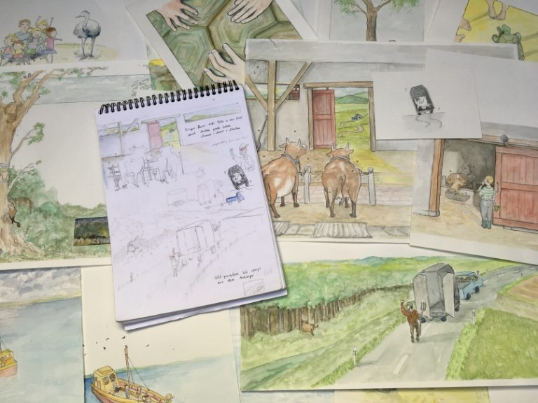 meine erste Kinderbuchillustration | Geheimnisgeschichten Band 4