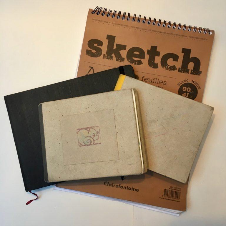 Illustration Skizzenbücher geben einen bunten Einblick