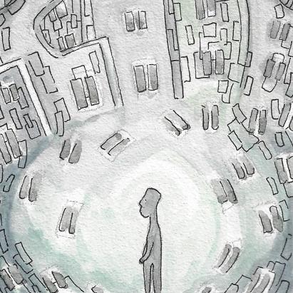 Illustration alfred wolfenstein - Städter