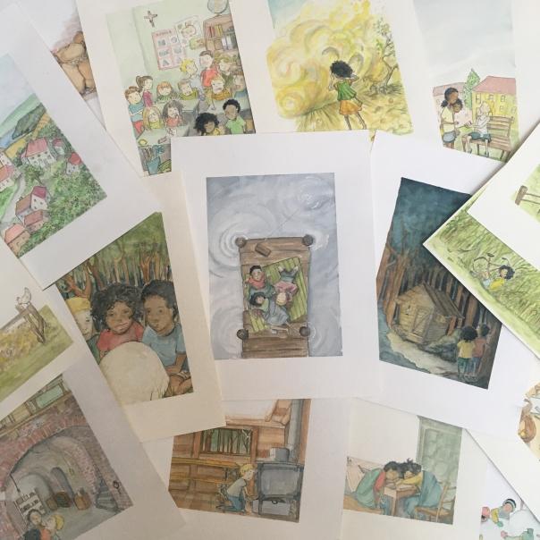Kinderbuchillustration Fana