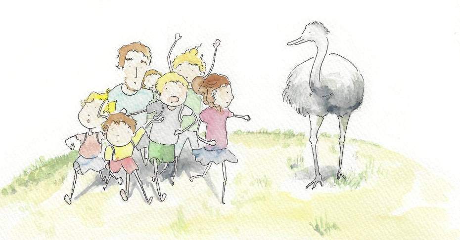 Kinderbuchillustration werkstatt eden