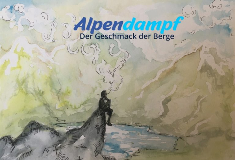 Alpendampf Illustration