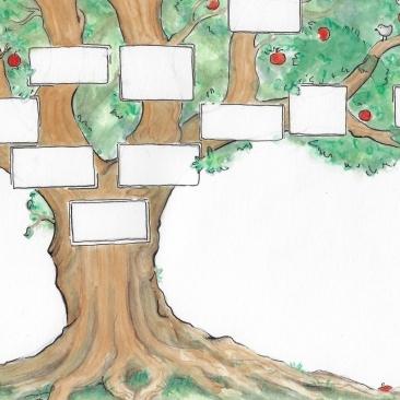 Stammbaum Illustration