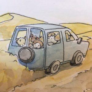 mit dem Auto durch Dünen