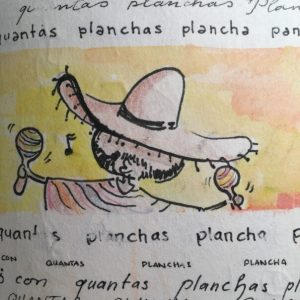pancha plancha ocho ponchos con ocho planchas