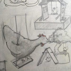 Schaukelndes Huhn