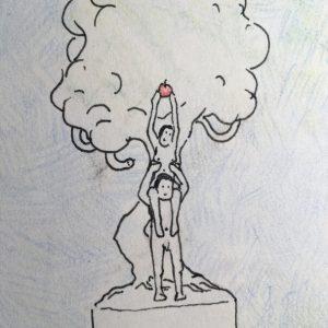 Adam und Eva Illustration