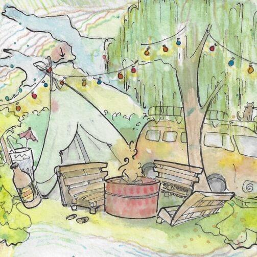 Gartenfest Illustration
